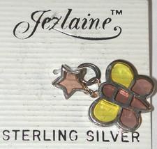 Butterfly Star Sterling silver Enamel Charm Jezlaine JEZ - $14.00