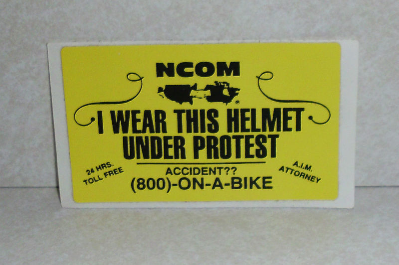NCOM I Wear This Helmet Under Protest Law Sticker