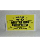NCOM I Wear This Helmet Under Protest Law Sticker - $5.89