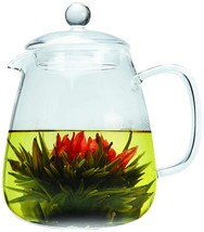 Primula 36 oz Layla Glass Teapot w/Loose Leaf Glass Infuser and 2 Flower... - $35.17