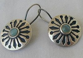 Light blue black earrings - $19.00