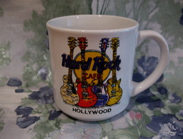 Hard Rock Cafe Hollywood Souvenir Glass Mug Cup Guitars STP - $12.99
