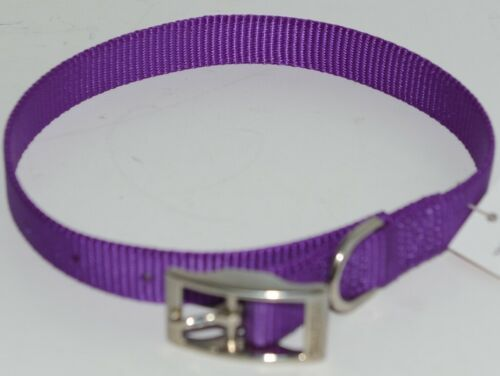 Valhoma 730 16 PR Dog Collar Purple Single Layer Nylon 16 inches Package 1