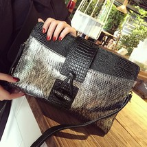 New Luxury Genuine Leather Women Gold Silver Party Evening Bag Cowhide A... - $69.99