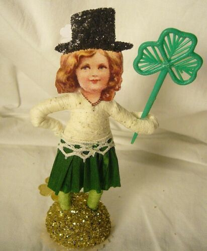 Vintage Inspired Spun Cotton ST PATRICK'S DAY IRISH LASS