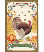 Thanksgiving Day Greetings Vintage Post Card - $6.00