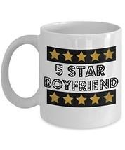 5 Star Boyfriend - Novelty 11oz White Ceramic Boyfriend Mug - Perfect An... - $14.84