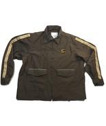 UPS Long Sleeve Full Zip Brown Rain Jacket Adult Men's Size L  (42-44) l... - $74.99