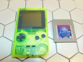 Extreme Green Nintendo Gameboy Pocket *Toys R Us Exclusive* WORKS Plus t... - $93.49
