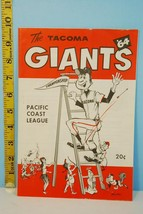 1964 Tacoma Giants Baseball Scorecard PCL Champs vs San Diego - $34.65