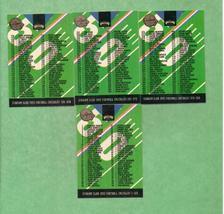 1993 Stadium Club Super Teams Super Bowl FB Checklists  - $2.00