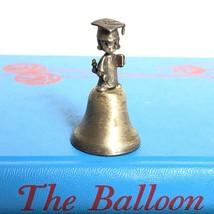 Vintage Enesco Precious Moments Miniature Bell w/ Pewter Graduate Top Gr... - $14.59