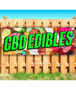 CBD EDIBLES Advertising Vinyl Banner Flag Sign SMOKE SHOP - $13.53+