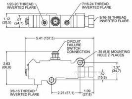UNIVERSAL GM CHEVY BRASS DISC/DRUM BRAKE PROPORTIONING VALVE PV2 image 6