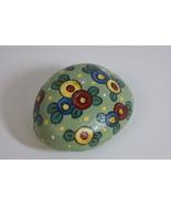 Rock OOAK Handpainted Whimsical Flowers Polkadots - $15.00