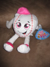 "Baseball Girl Pink Brand New Plush Nwt Stuffed Animal W Tags 13"" Sugar Loaf Toys - $7.99"