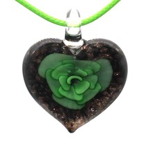 6 Colors Glass Jewelry Flower Heart Murano Glass Pendant Lampwork Glass ... - $9.36