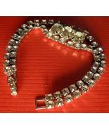 VTG Pre-1940's 3-Piece 'Paste' Rhinestone Necklace-Bracelet-Clips [SEE PHOTOS] - £39.21 GBP