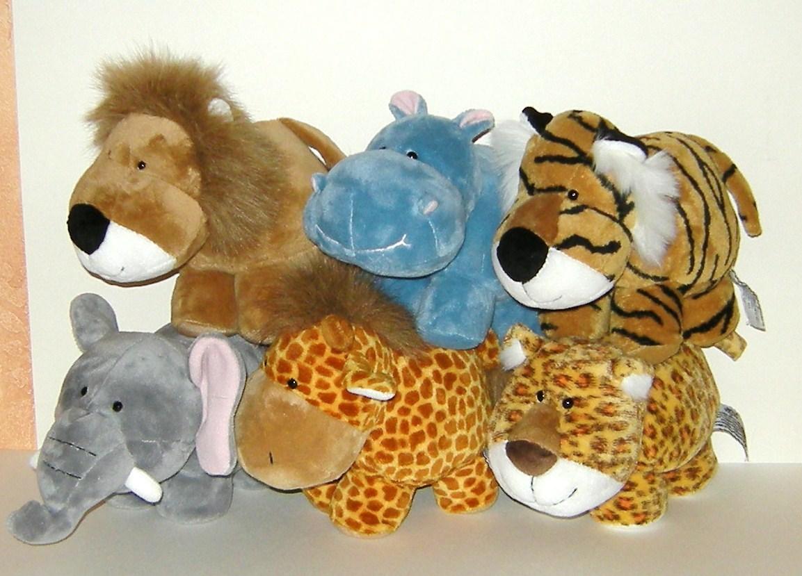 1/2 Price! Russ Berrie Lot of Six Plush Baby Animals Babies