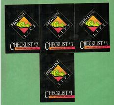 1994 Proline Football Checklists - $1.00
