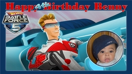 Hotwheels Battleforce 5 -Custom- Birthday Banner w/photo - $39.95