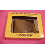 Brass Gold Plated Anodized Officer's Buckle new NIB  - $11.95