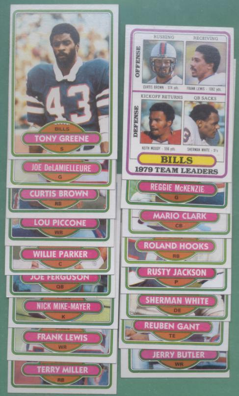 1980 Topps Buffalo Bills Football Set
