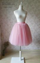 MAUVE A-line High Waist 4 layer Tutu Skirt Knee Length Midi Skirt NWT image 4