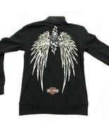 Harley Davidson Full Zip Sweater Jacket Women Size Small Sweatshirt Indianapolis - $27.33