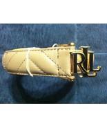 Ralph Lauren Mujer Nuevo Cuero Crema Cinturón Talla: XL Ancho: 2.9cm Lon... - $55.71