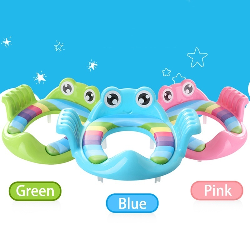 Baby Toilet Trainer Cute Cartoons Safe Handles Kids Toddler Potty Chair Seat