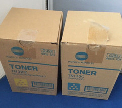 2 NEW KONICA MINOLTA COLOR TONER TN310C CYAN (G3SJ)TN310Y YELLOW (G3VK) - $49.95