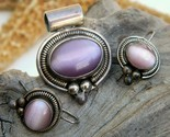 Vintage mexico sterling silver pendant earrings cats eye ati thumb155 crop