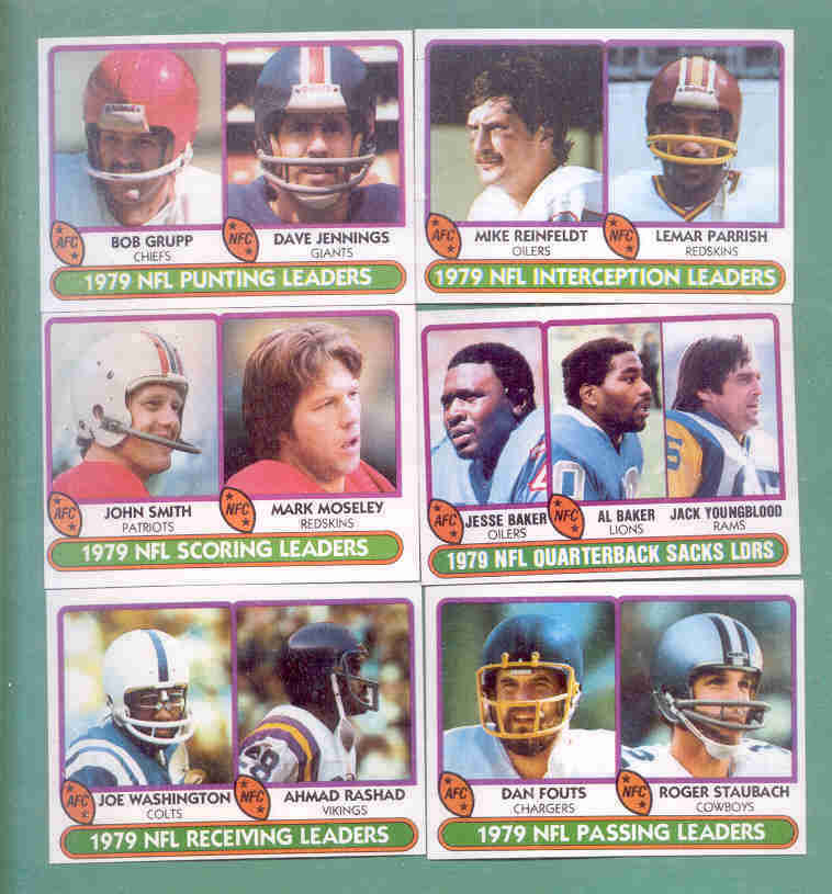 1980 Topps League Leaders Football Set
