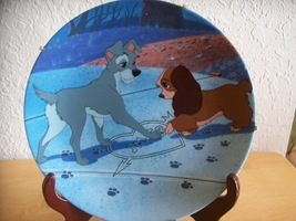 """1992 Disney Lady and the Tramp """"Puppy Love"""" Collector's Plate by Bradford  - $45.00"""