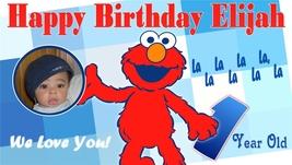 Elmo -Personalized- Custom Birthday Banner w/ Photo - $39.95