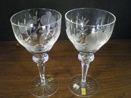 2  VINTAGE ECHT BLEIKRISTALL SIGNED & LABLED CUT CLEAR HOCKS~~~BEAUTIES~... - $39.95