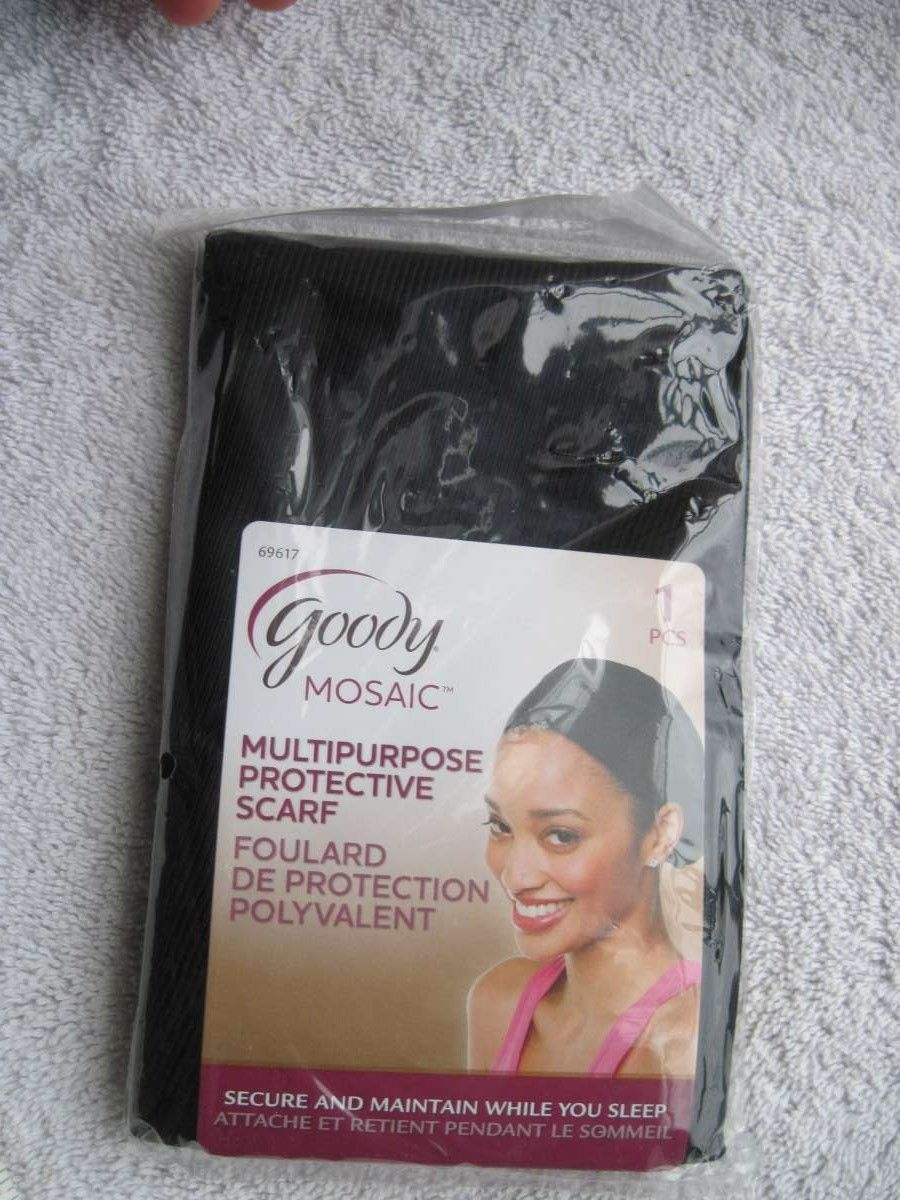 Black Goody Mosaic Multipurpose Protective Scarf Secure Maintain While Sleep - $9.00