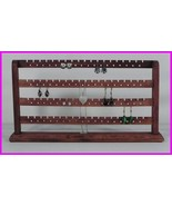 ** Merlot Stained Solid Wood Earring 148 Pc Jewelry Earring Rack Display... - $24.99