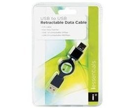 iessentials USB to USB Retractable 3 ft Data Cable