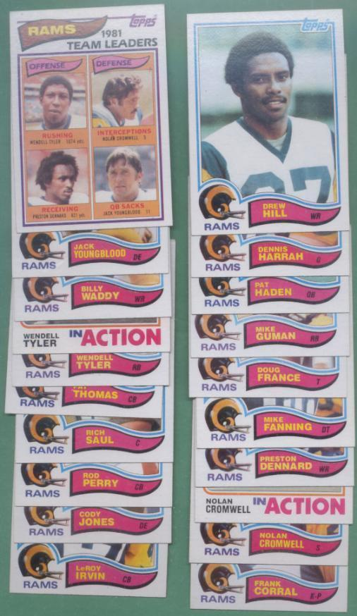 1982 Topps Los Angeles Rams Football Set