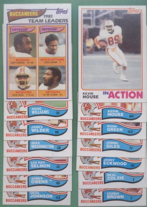 1982 Topps Tampa Bay Buccaneers Football Team Set