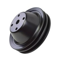 Long Water Pump Pulley LWP Double-Groove For Small Block Chevy SBC 262 350 400 image 9