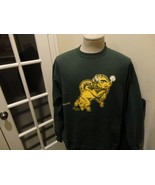 Vtg Green Champion Authentic North Dakota State Bison NCAA 50-50 Sweatsh... - $39.59
