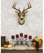 12 Point Buck Trophy Taxidermy Wall Decor Deer Head With Antlers Sculpture - $65.99