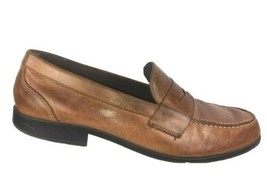 Rockport Walkability Mens Loafers 13 M Penny Brown Leather Casual Moc To... - $39.27