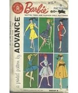 Barbie group B Teen age fashion Doll Clothes Patterns VTG 1961 - $19.95