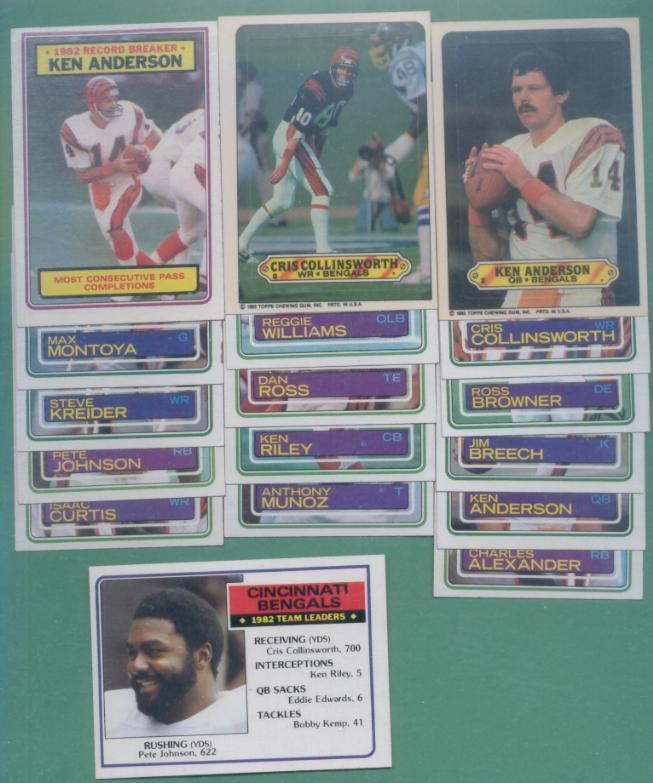 1983 Topps Cincinnati Bengals Football Set