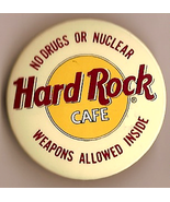 Hard Rock Cafe NO DRUGS OR NUCLEAR WEAPONS pinb... - $5.00