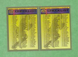1999 Topps Football Checklists  - $1.00